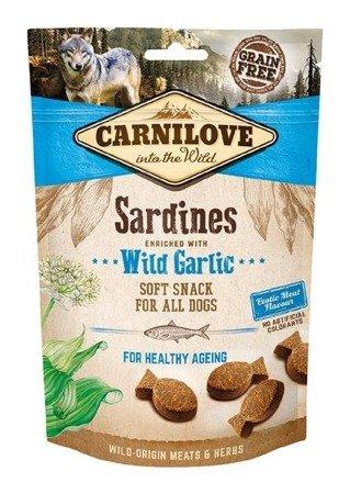 Carnilove Semi Moist Snack Sardines Enriched With Wild Garlic 200 g, Sardynki i Czosnek niedżwiedzi