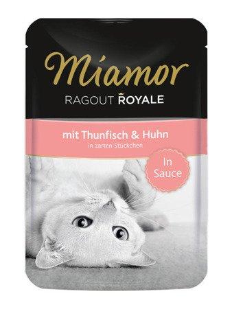 MIAMOR Ragout Royale z Tuńczykiem i Kurczakiem w Sosie Saszetka 100 g