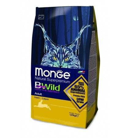 Monge BWILD ADULT ZAJĄC 1,5kg