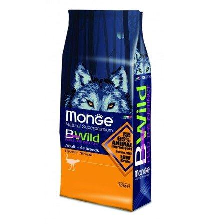 Monge BWild Adult Struś 7,5 kg