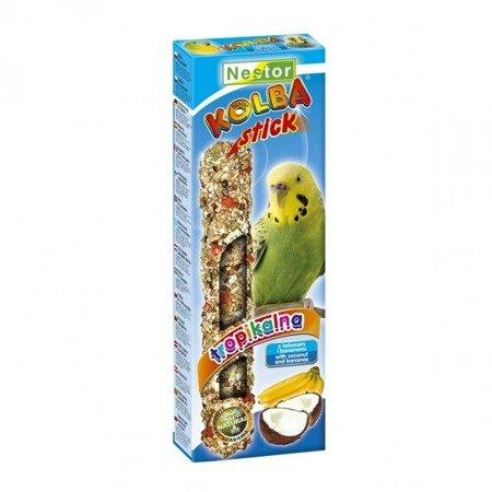 NESTOR KOLBA dla małych papug z kokosem i bananami TROPIKALNA 85g 2 szt.