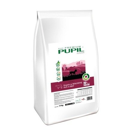 PUPIL Premium Junior Mini bogata w wołowinę 10 kg