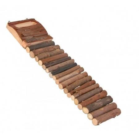 TRIXIE Drabina dla chomika z naturalnego drewna,18 szczebli, 7×27 cm