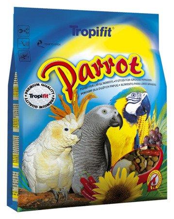 TROPIFIT PARROT - pełnowartościowy pokarm dla Dużych papug 1kg