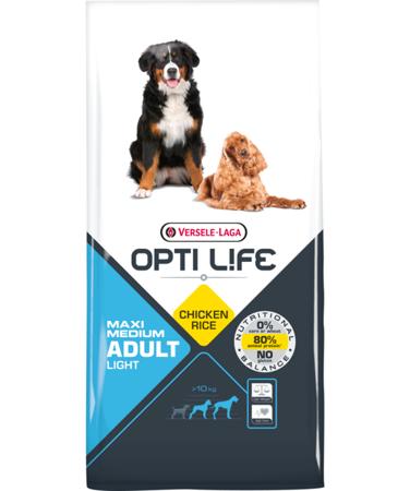 VERSELE-LAGA Opti Life Adult Light Medium & Maxi 12,5 kg - karma dla otyłych, dorosłych psów ras średnich i dużych ( drób )