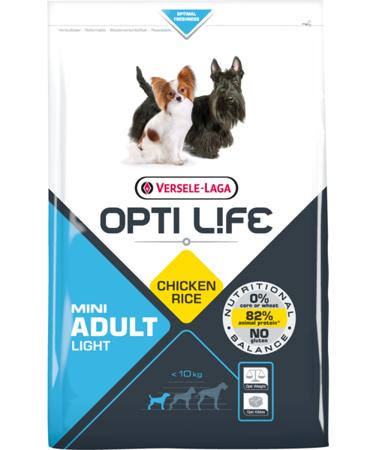 VERSELE-LAGA Opti Life Adult Light Mini 7,5 kg - karma dla otyłych, dorosłych psów ras małych i miniaturowych ( drób )