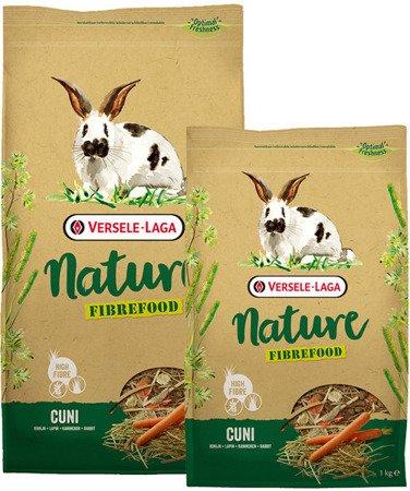 Versele Laga Cuni Nature Fibrefood 1kg - pokarm LIGHT/SENSITIVE dla królików miniaturowych