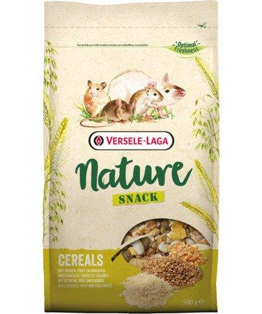 Versele Laga Snack Nature Cereals 500g - płatki zbożowe, prażone zboża i owoce dla gryzoni i królików